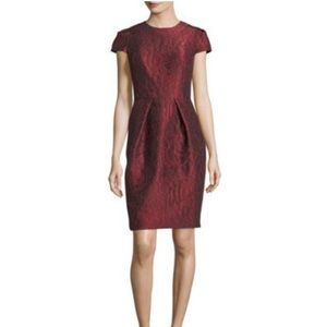 Carmen Marc Valvo Jacquard Dress Cap Sleeve 16